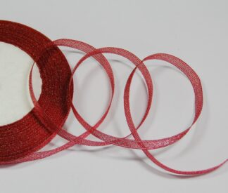 Red with Silver 6mm Ribbon celloexpress