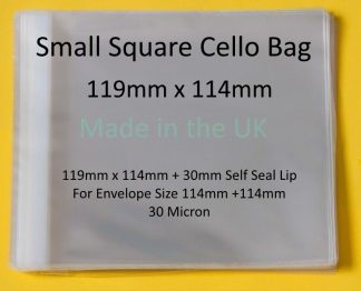 Small Square 119mm x 114mm Cello