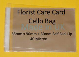 Florist Care Card - 65mm x 90mm