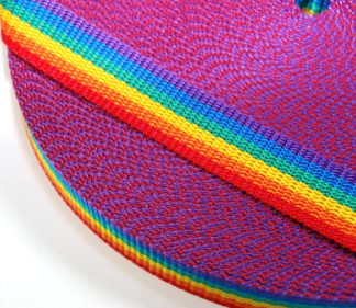 Rainbow Webbing nylon close up celloexpress
