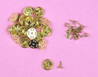Golden Badge Pins & Backs