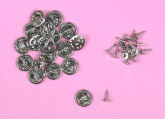 Silver Badge Pins&Backs