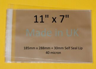 11 x 7 Cello Bag - 185mm x 288mm