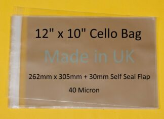12 x 10 Cello Bags - 262mmx305mm