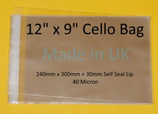 12 x 9 Cello Bag - 240mm x 300mm