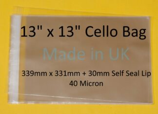 13 x 13 Cello Bag - 339mmx331mm