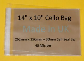 14 X 10 Cello Bags - 262mmx356mm