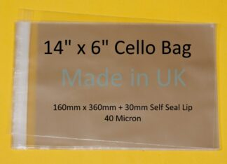 14 x 6 Cello Bags- 160mm x 360mm