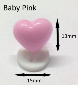 Baby Pink 15 x 13mm Heart Noses