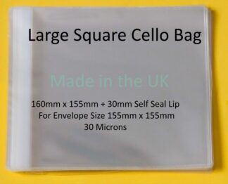 Large Square 160mm x 155mm Cello