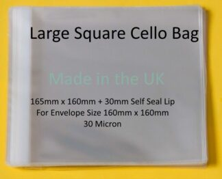 Large Square 165mm x 160mm Cello