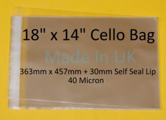 18 x 14 Cello Bag - 356mmx457mm