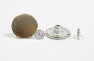 20mm Plain Silver Jean Studs