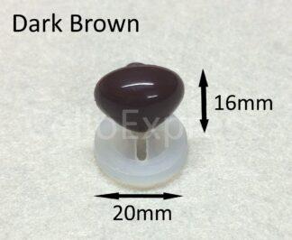 20mm x 16mm Dark Brown Triangle