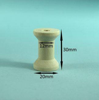 Wooden Spools 20mm x 30mm