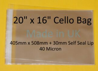 20 x 16 Cello Bag- 415mm x 508mm