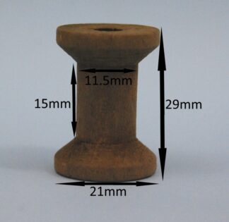 Brown Wooden Spools 21mm x 29mm