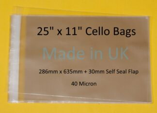 25 x 11 Cello Bag - 286mmx635mm
