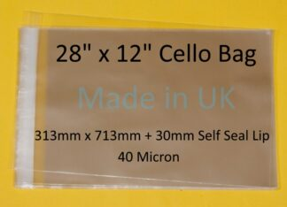 28 x 12 Cello Bag - 313mmx713mm