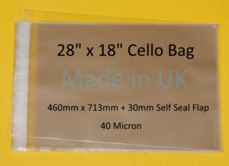 28 x 18 Cello Bag- 460mm X 713mm