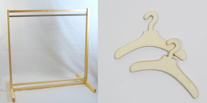 40cm and 50cm Wooden Clothes Rail celloexpress
