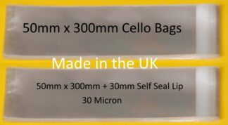 50mm x 300mm Cello Bags