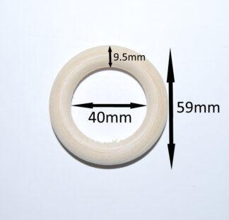 59mm x 9.5mm Wooden Linking Ring