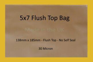 """5"""" x 7"""" Flush Top Cello Bag"""
