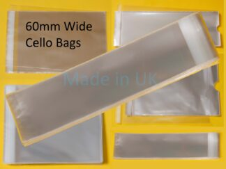 60mm Wide Cello Bags