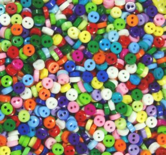Mini Doll Buttons Assort Circles
