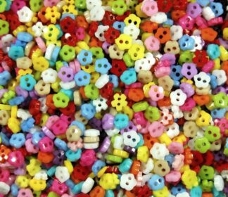 Flower Mini Doll Buttons