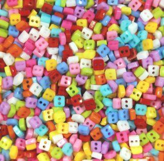 Square Mini Doll Buttons