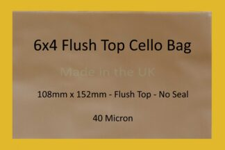 """6"""" x 4"""" Flush Top Cello Bag"""