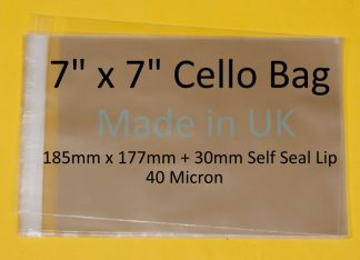 "7"" x 7"" Cello Bag - 185mm x 177mm"