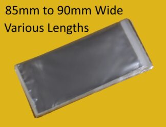 85mm-90mm Wide Cello Bags
