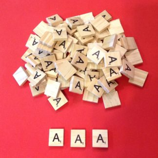Letter 'A' Scrabble Wooden Tiles