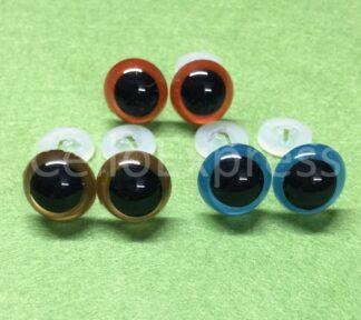 Glass Like Eyes w/Plastic Backs