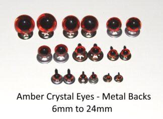 Amber Eyes Metal Backs