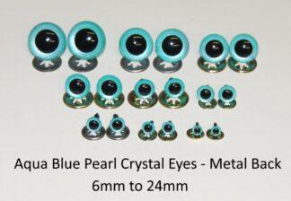 Aqua Blue Pearl Metal Back
