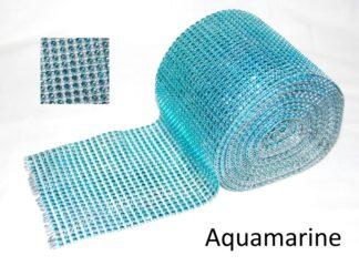 Aquamarine DiamanteEffect Ribbon