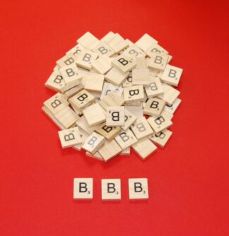 Letter 'B' Scrabble Wooden Tiles