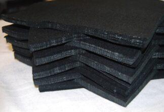 "6"" Black Felt Squares"