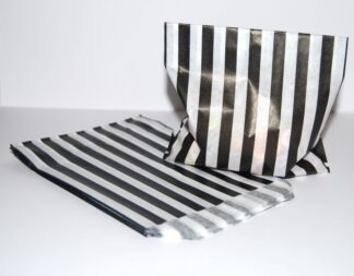 """7"""" x 9"""" - Black Paper Sweet Bags"""