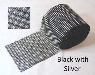 Black With Silver Diamante