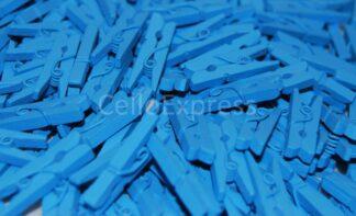 25mm Blue Mini Wooden Pegs