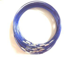 Blue Plain Clasp Wire Necklaces