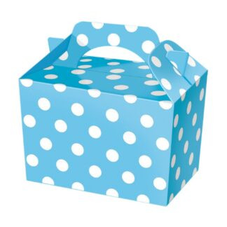 Blue Polka Dot Party Food Boxes