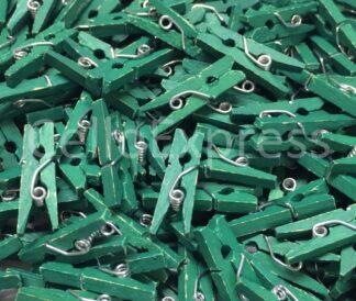 25mm Bottle Green Wooden Pegs