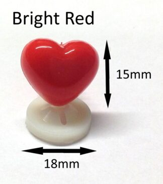 Bright Red 18 X 15mm Heart Noses