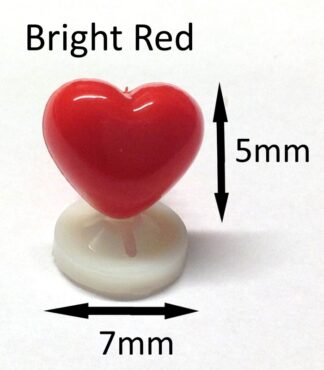 Bright Red 7 X 5mm Heart Noses